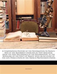 A Compendious History of the Reformation in France: And of the Reformed Churches in That Kingdom. from the First Beginnings of the Reformation, to the