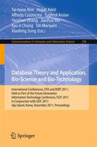 Database Theory and Application, Bio-Science and Bio-Technology
