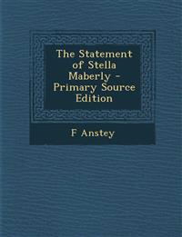 The Statement of Stella Maberly