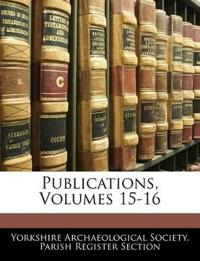 Publications, Volumes 15-16