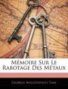 Mémoire Sur Le Rabotage Des Métaux