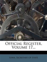 Official Register, Volume 17...