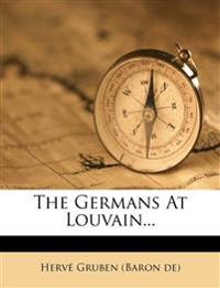 The Germans At Louvain...