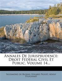 Annales De Jurisprudence: Droit Fédéral Civil Et Public, Volume 14...