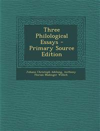 Three Philological Essays
