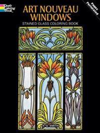 Art Nouveau Windows Coloring Book