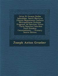 Ortus Et Occasus Stellae Splendidae, Sancti Martyris Joannis Nepomuceni Canonici Metropolitanae Ecclesiae Pragensis Ad Sanctum Vitum : Variis Depictus