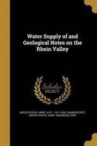 WATER SUPPLY OF & GEOLOGICAL N