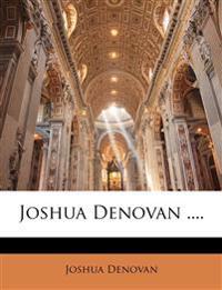 Joshua Denovan ....