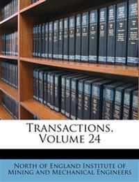 Transactions, Volume 24