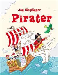 Jag färglägger : pirater