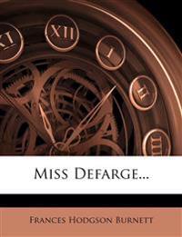 Miss Defarge...