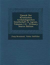 Vjesnik Der Kroatischen Archaeologischen Gesellschaft in Agram, Volumes 1-6 - Primary Source Edition