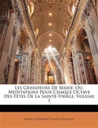 Les Grandeurs De Marie: Ou, Méditations Pour Chaque Octave Des Fêtes De La Sainte-Vierge, Volume 1