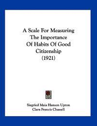A Scale for Measuring the Importance of Habits of Good Citizenship
