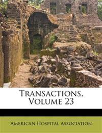 Transactions, Volume 23