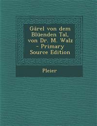 Gârel von dem Blüenden Tal, von Dr. M. Walz - Primary Source Edition