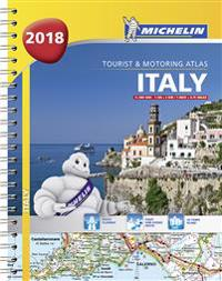Italy - tourist and motoring atlas 2018 (a4-spiral)