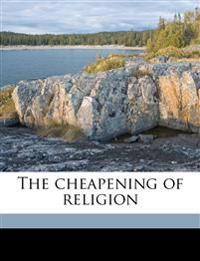 The cheapening of religion