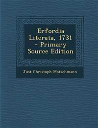 Erfordia Literata, 1731 - Primary Source Edition