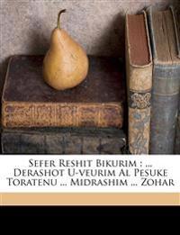 Sefer Reshit bikurim : ... derashot u-veurim al pesuke toratenu ... midrashim ... Zohar