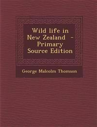 Wild Life in New Zealand - Primary Source Edition