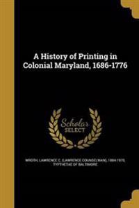 HIST OF PRINTING IN COLONIAL M