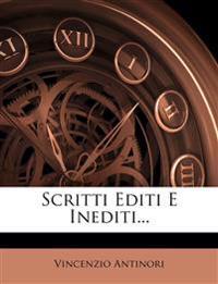 Scritti Editi E Inediti...