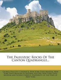 The Paleozoic Rocks Of The Canton Quadrangle...