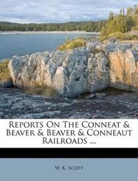 Reports On The Conneat & Beaver & Beaver & Conneaut Railroads ...