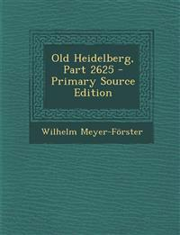 Old Heidelberg, Part 2625