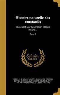 FRE-HISTOIRE NATURELLE DES CRU