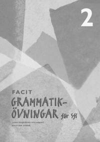 Grammatikövningar för Sfi. 2, Facit