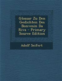Glossar Zu Den Gedichten Des Bonvesin Da Riva