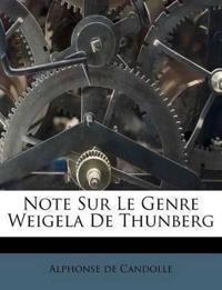Note Sur Le Genre Weigela De Thunberg