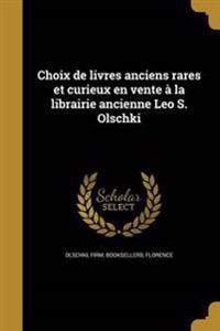 FRE-CHOIX DE LIVRES ANCIENS RA