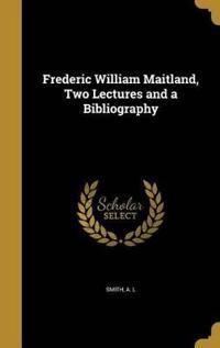 FREDERIC WILLIAM MAITLAND 2 LE