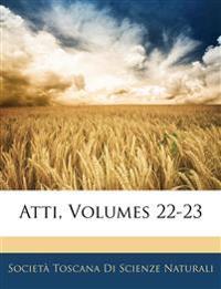 Atti, Volumes 22-23