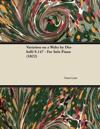 Variation on a Waltz by Diabelli S.147 - For Solo Piano (1822)