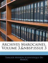 Archives Marocaines, Volume 3, issue 3