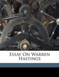 Essay on Warren Hastings