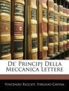 De' Principj Della Meccanica Lettere