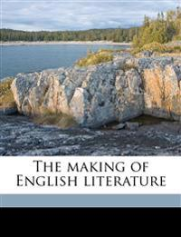 The making of English literature