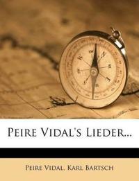 Peire Vidal's Lieder...