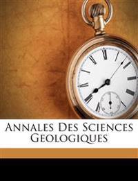 Annales Des Sciences Geologiques