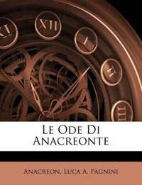 Le Ode Di Anacreonte