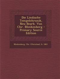 Die Lindische Tempelchronik, Neu Bearb. Von Chr. Blinkenberg - Primary Source Edition