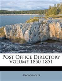 Post Office Directory Volume 1850-1851