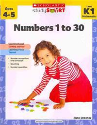 Numbers 1 to 30, Level K1