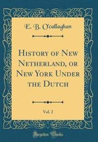 History of New Netherland, or New York Under the Dutch, Vol. 2 (Classic Reprint)